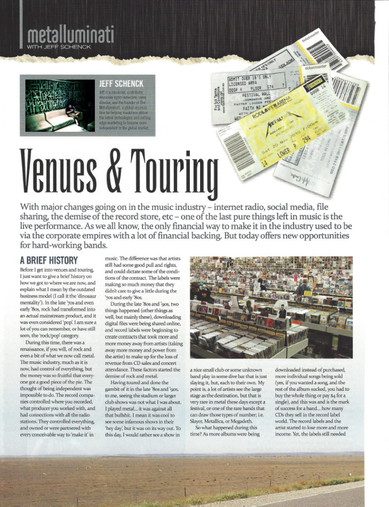 Venues & Touring